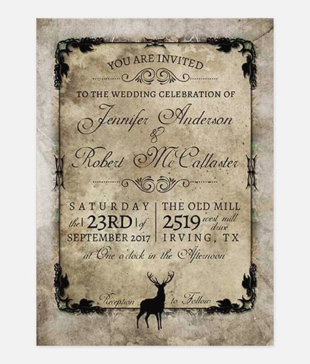 Deer Wedding Invitations Deer Wedding Invitations Fresh Rustic Buck Deer Wedding Invitation