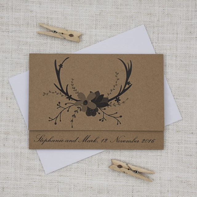 Deer Wedding Invitations Krafty Deer Wedding Invitation Be My Guest
