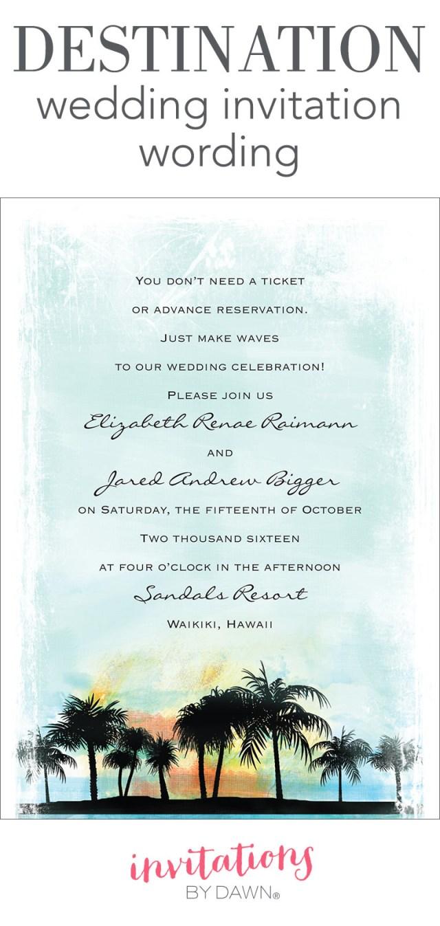 Destination Wedding Invitation Destination Wedding Invitation Wording Invitations Dawn