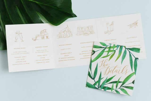Destination Wedding Invitation Paper Crush Tropical Destination Wedding Invitations