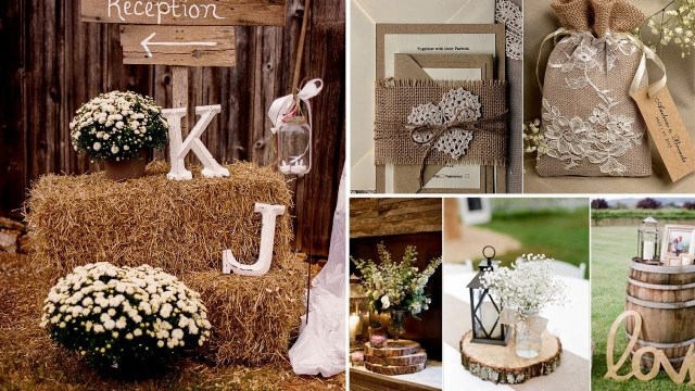 Diy Rustic Wedding Decorations 40 Elegant Rustic Or Barn Chic Party Or Wedding Diy Decor Ideas