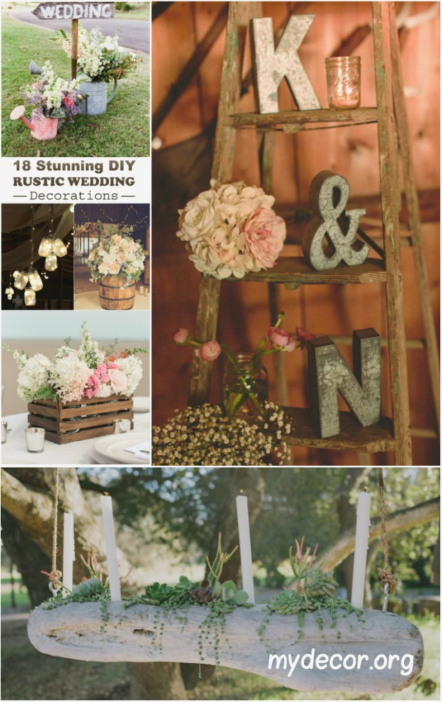 Diy Rustic Wedding Decorations Diy Barn Wedding Decor