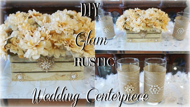Diy Rustic Wedding Decorations Diy Rustic Glam Wedding Centerpiece Ft Tottaly Dazzled Bling Gems