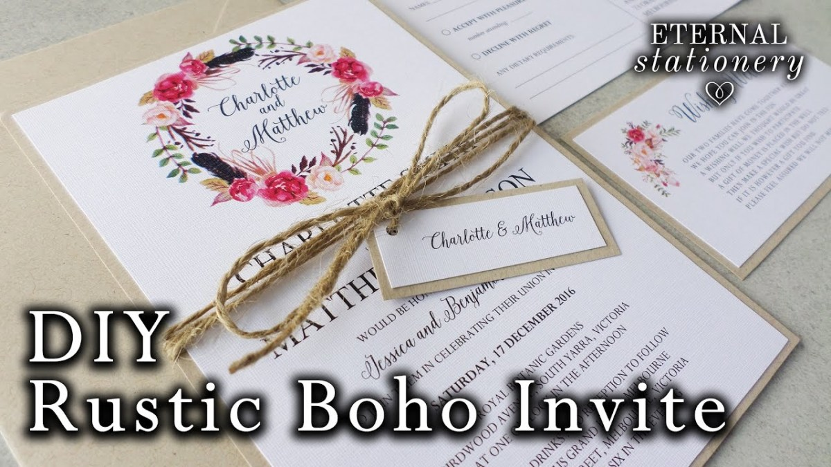 Do It Yourself Wedding Invitations How To Make A Rustic Boho Floral Wreath Wedding Invitation Diy