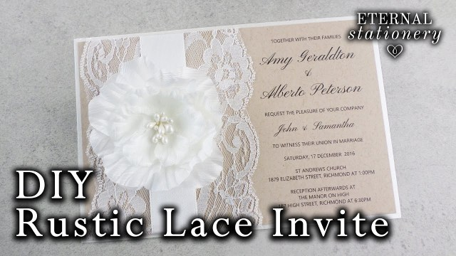 Do It Yourself Wedding Invitations How To Make A Rustic Wedding Invitation Diy Invitations Youtube