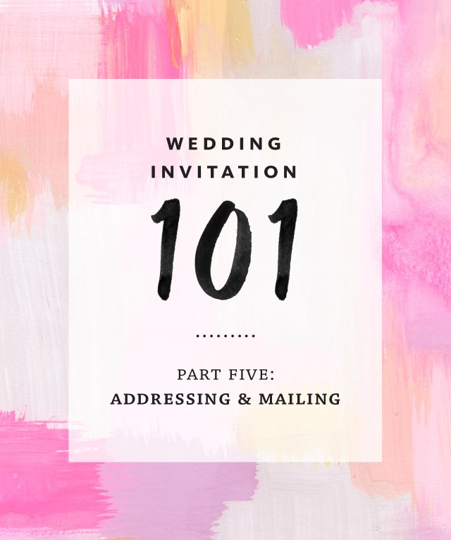 Etiquette For Addressing Wedding Invitations Invitation Addressing And Mailing
