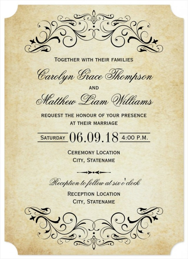 Free Printable Wedding Invitation Templates Download 31 Elegant Wedding Invitation Templates Free Sample Example
