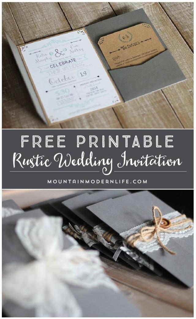 Free Wedding Invitation Printables Free Printable Wedding Invitation Template Mountainmodernlife