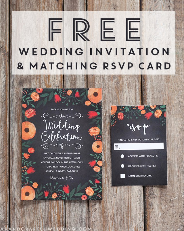 Free Wedding Invitation Printables Free Whimsical Wedding Invitation Template Mountain Modern Life