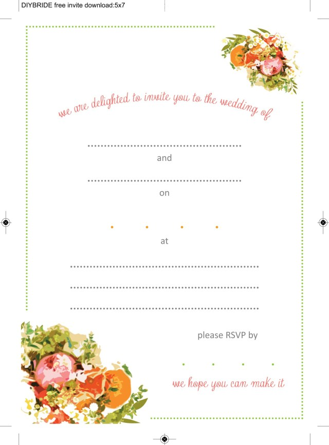 Free Wedding Invitation Printables Wedding Invitation Templates That Are Cute And Easy To Make The
