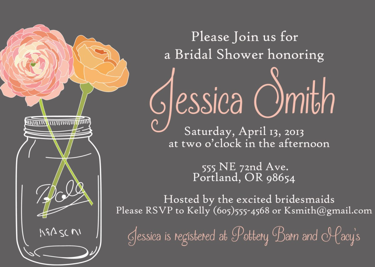 Free Wedding Shower Invitation Templates Index Of Cdn Bridal Shower Mason Jar Invitations Templates Picture X