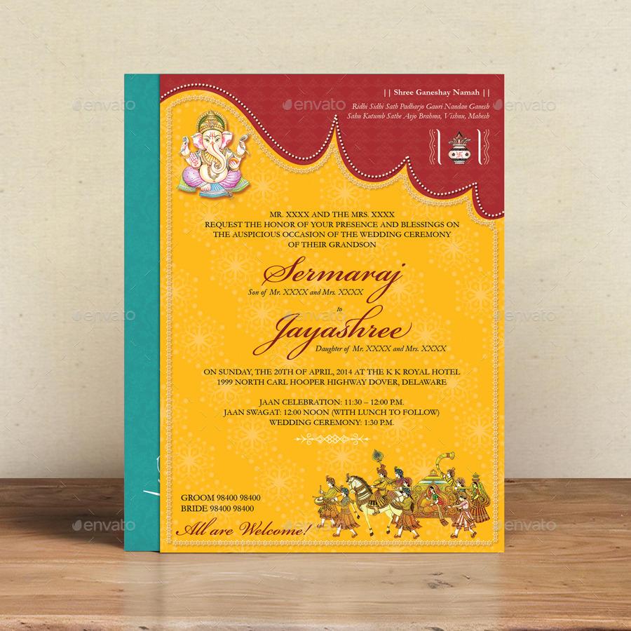 Hindu Wedding Invitations Hindu Wedding Card Graphixshiv Graphicriver
