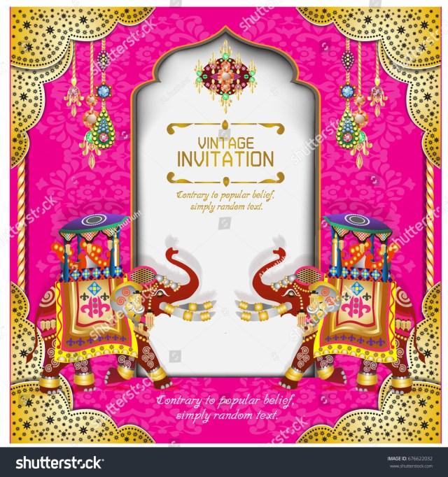 Hindu Wedding Invitations Hindu Wedding Knot Tied Man Woman Stock Vector Royalty Free