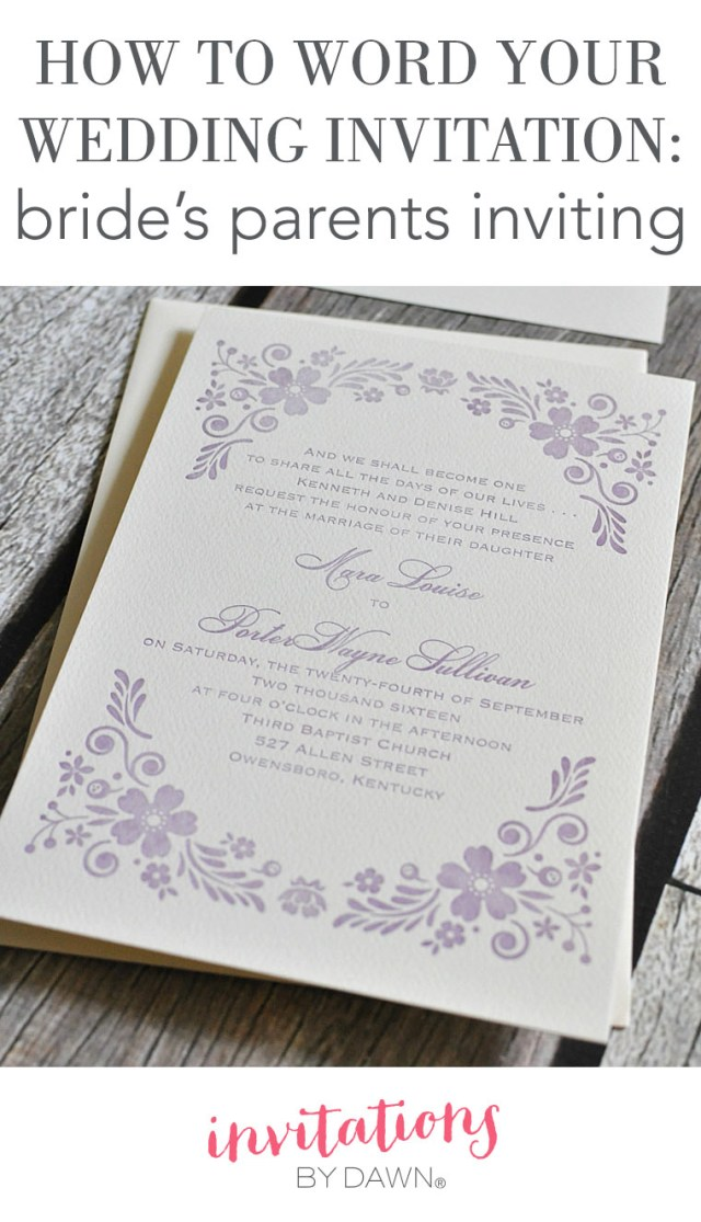 His And Hers Wedding Invitations How To Word Your Wedding Invitations Brides Parents Inviting