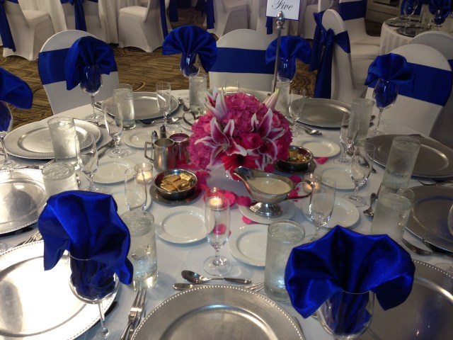Hot Pink And Silver Wedding Decorations Hot Pink And Blue Wedding Fashion Dresses
