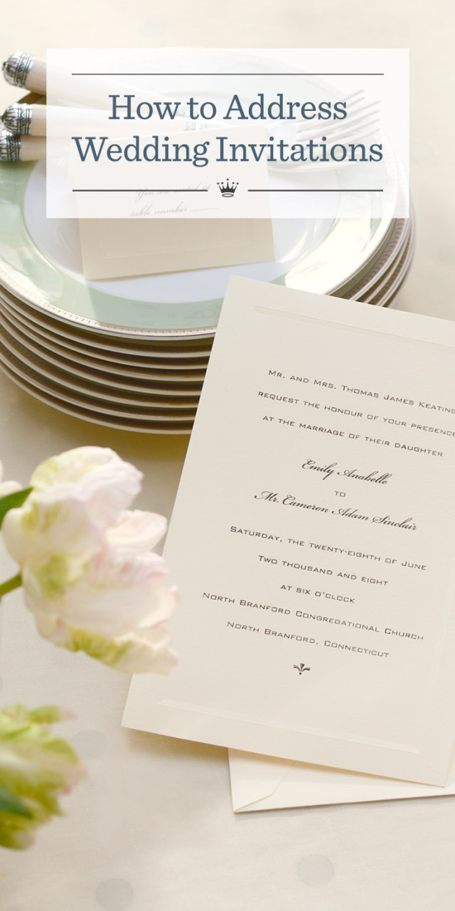 How Do You Address Wedding Invitations How To Address Wedding Invitations Hallmark Ideas Inspiration