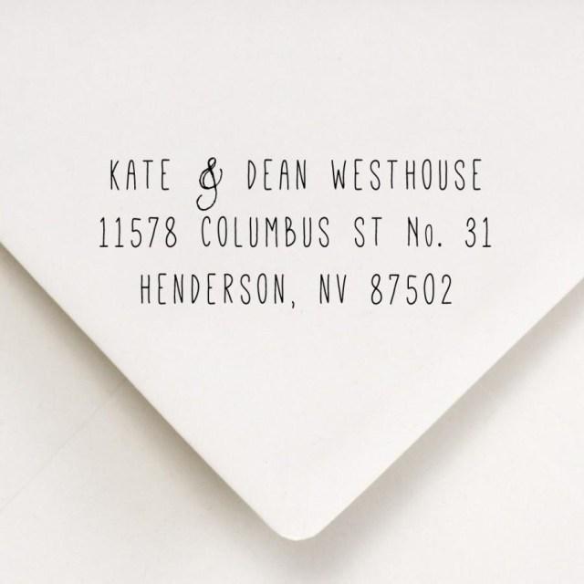 How Do You Address Wedding Invitations Return Address Stamp Skinny Font Return Address For Stamping