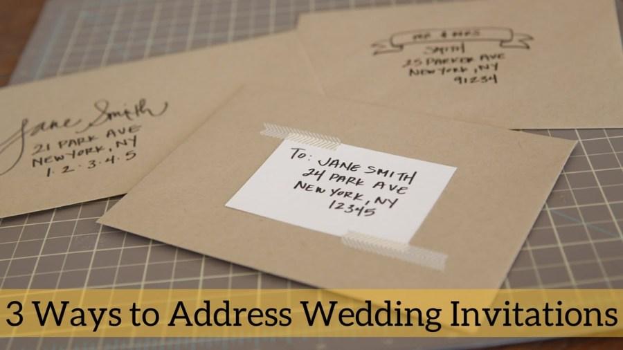 How To Address A Wedding Invitation 3 Ways To Address Wedding Invitations Youtube