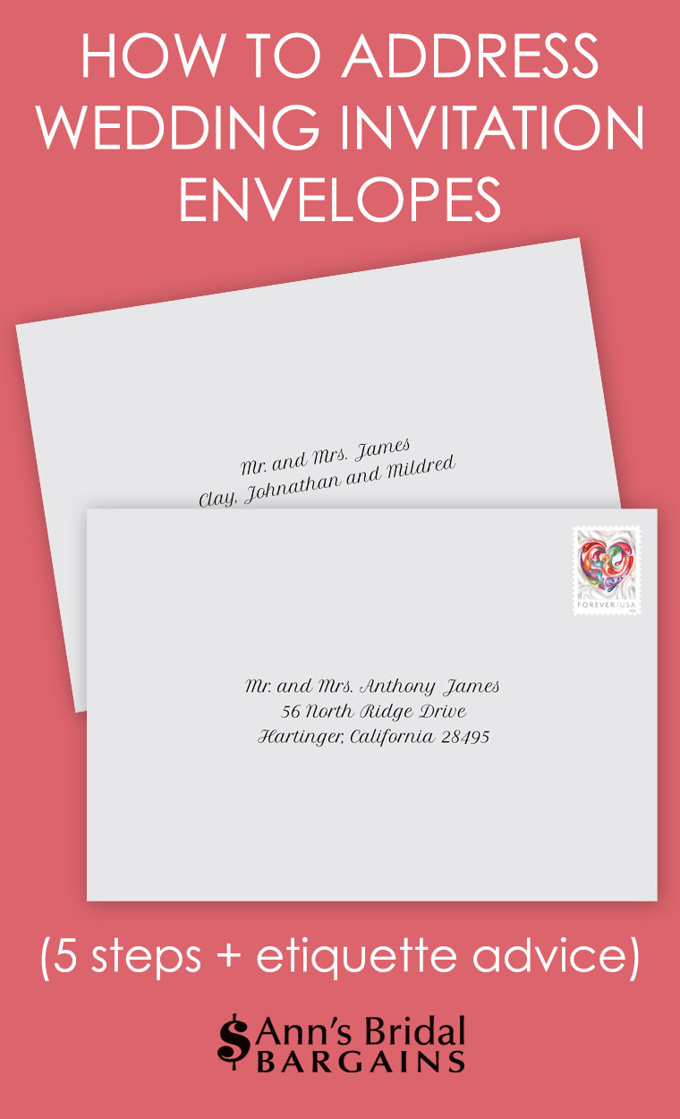 How To Address A Wedding Invitation How To Address Wedding Invitation Envelopes Anns Bridal Bargains