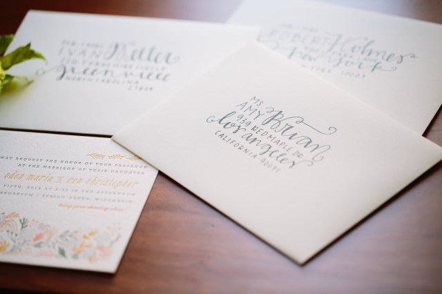 How To Address Wedding Invitations With Guest Diy Wedding Envelope Addressing Tips Julep
