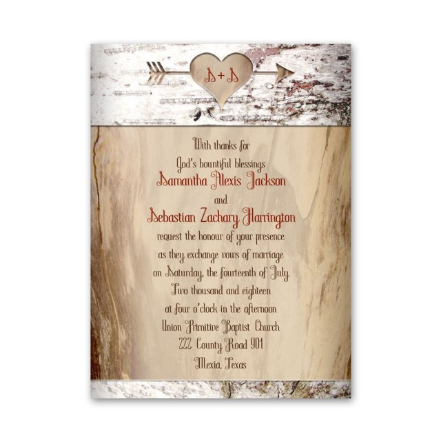 Images Of Wedding Invitations Aged Birch Petite Invitation Anns Bridal Bargains