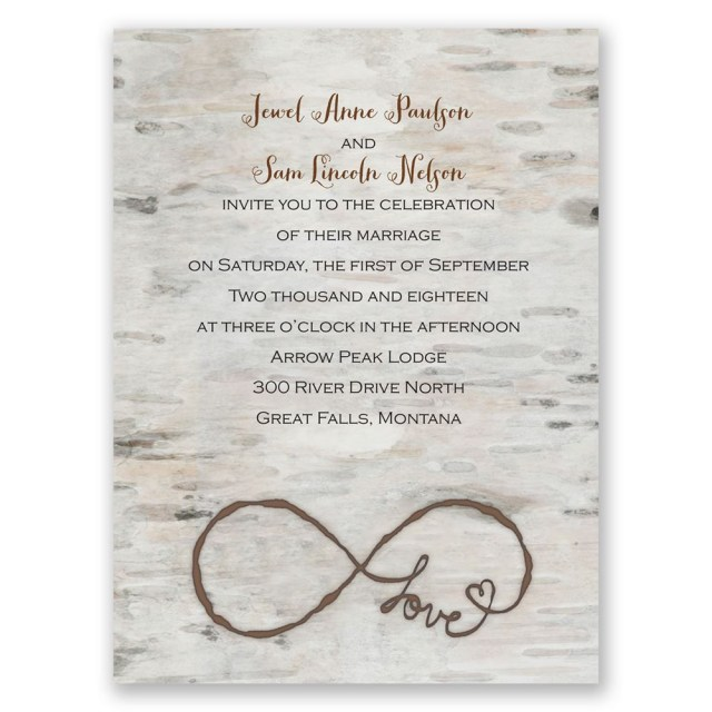 Images Of Wedding Invitations Love For Infinity Petite Invitation Invitations Dawn