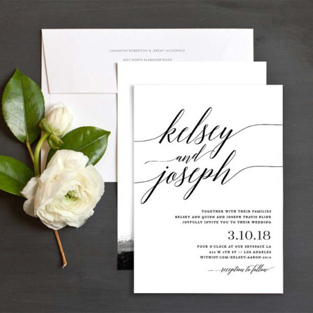 Images Of Wedding Invitations Lovely Minimalist Invitations For A Modern Wedding Weddingbells