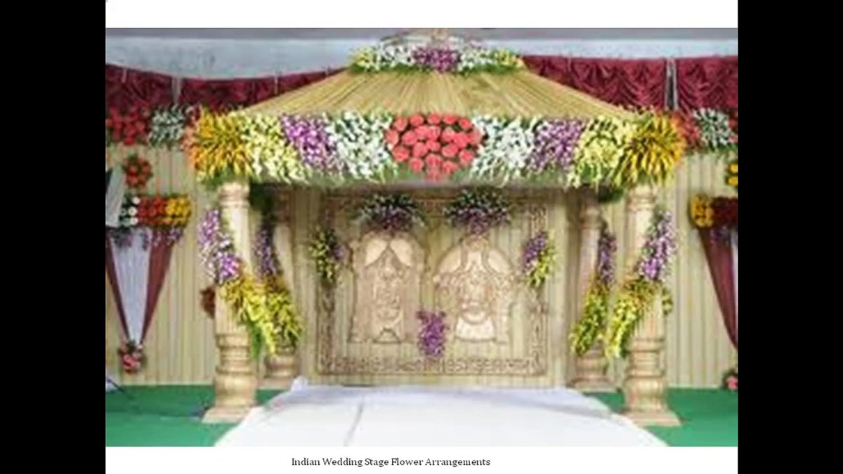 Indian Wedding Flower Decoration Pictures Images Of Indian Wedding Stage With Colorful Flower Arrangements