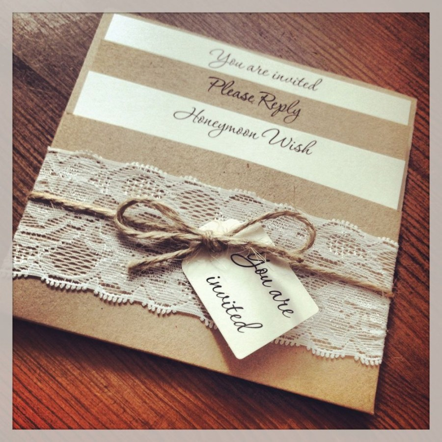 Invitations For Weddings 1 Vintageshab Chic Style Lace Pocket Rebecca Wedding Invitation