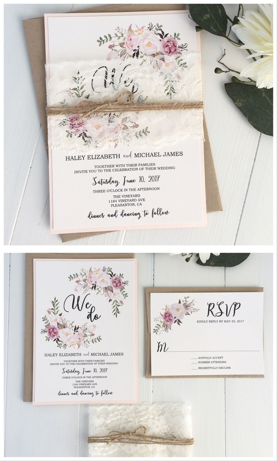 Invitations For Weddings Pink Floral Invitation We Do In 2018 Weddings Pinterest