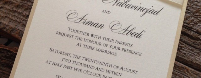 Ivory Wedding Invitations Elegant Wedding Invitation Set Champagne Wedding Invitation