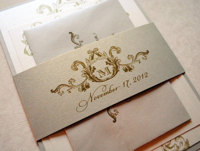 Ivory Wedding Invitations Ivory Champagne And Gold Wedding Invitations Elegant Wedding