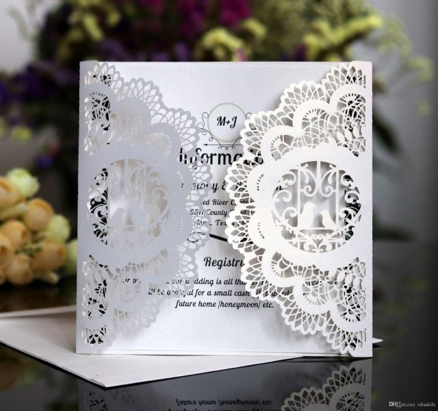 Laser Cut Wedding Invitations Diy 2018 Navy Blue Laser Cut Pocket Wedding Invitation Suites