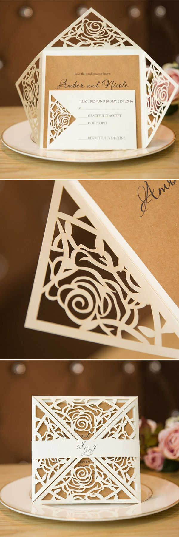 Laser Cut Wedding Invitations Diy Inspirational Laser Cut Wedding Invitations Diy Lenq