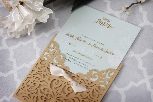 Laser Cut Wedding Invitations Diy Wedding Invitations Bar Mitzvah Invitations And Ba Gifts Toronto