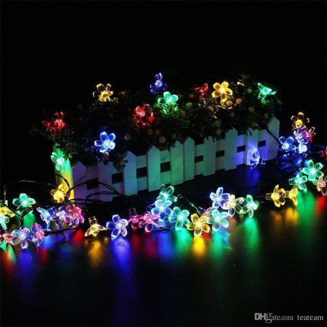 Light Decoration In Wedding Solor Powered Led Light Decoration 50led Flower Christmas Wedding