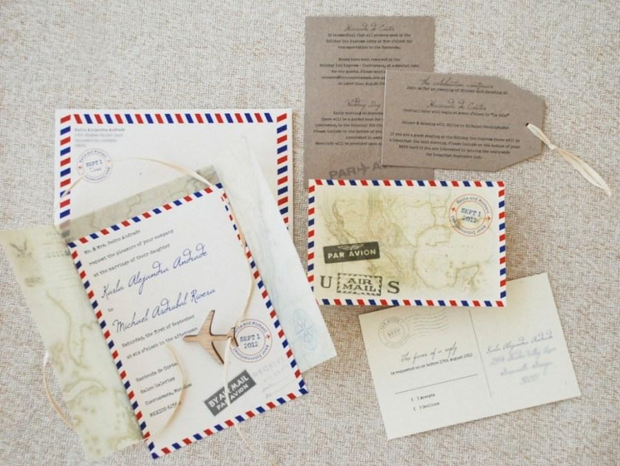 Mailing Wedding Invitations Airplane Wedding Invitations Serendipity