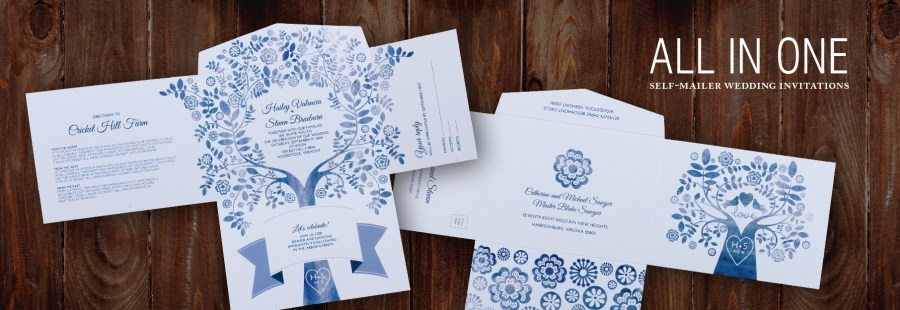 Mailing Wedding Invitations All In One Self Mailer Wedding Invitations Einvite Page 1