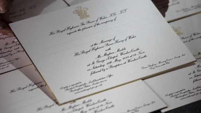 Mailing Wedding Invitations See Royal Wedding Invitations Embossed In Gold Cnn Video