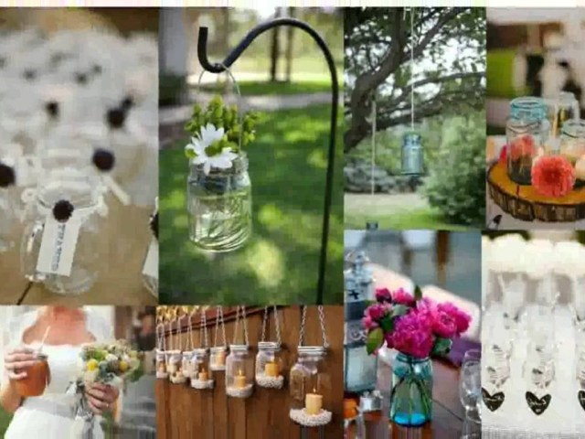 Mason Jar Decorations For A Wedding Wedding Trendsason Jar Arrangements Painted Jars With Flowers For