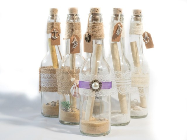 Message In A Bottle Wedding Invitations Invite In A Bottle Handmade Message In A Bottle Invitations From