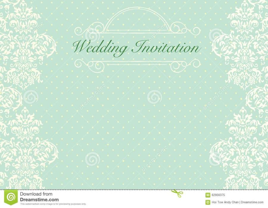 Mint Green Wedding Invitations Mint Green Wedding Invitation Background Stock Illustration