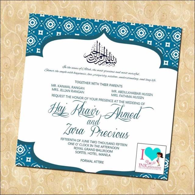 Muslim Wedding Invitations Muslim Wedding Invitations Wording Wedding Pinterest Wedding
