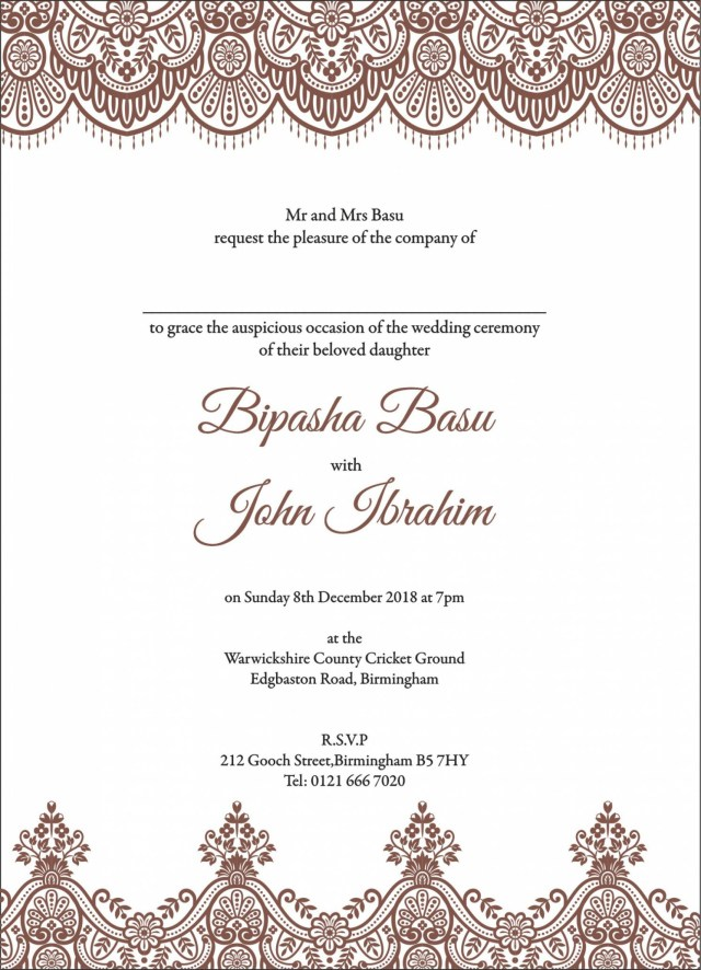 Muslim Wedding Invitations Ideas Grandioseparlor