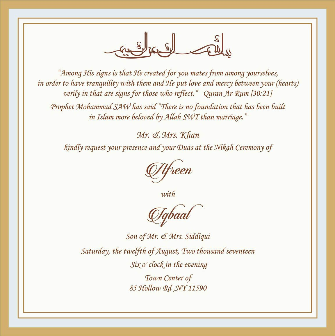27+ Brilliant Picture of Muslim Wedding Invitations