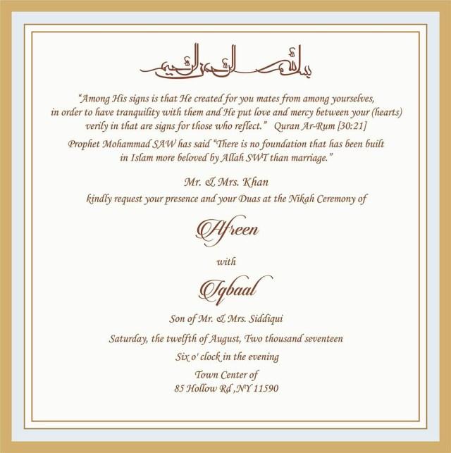 Muslim Wedding Invitations Wedding Invitation Wording For Muslim Wedding Ceremony Muslim