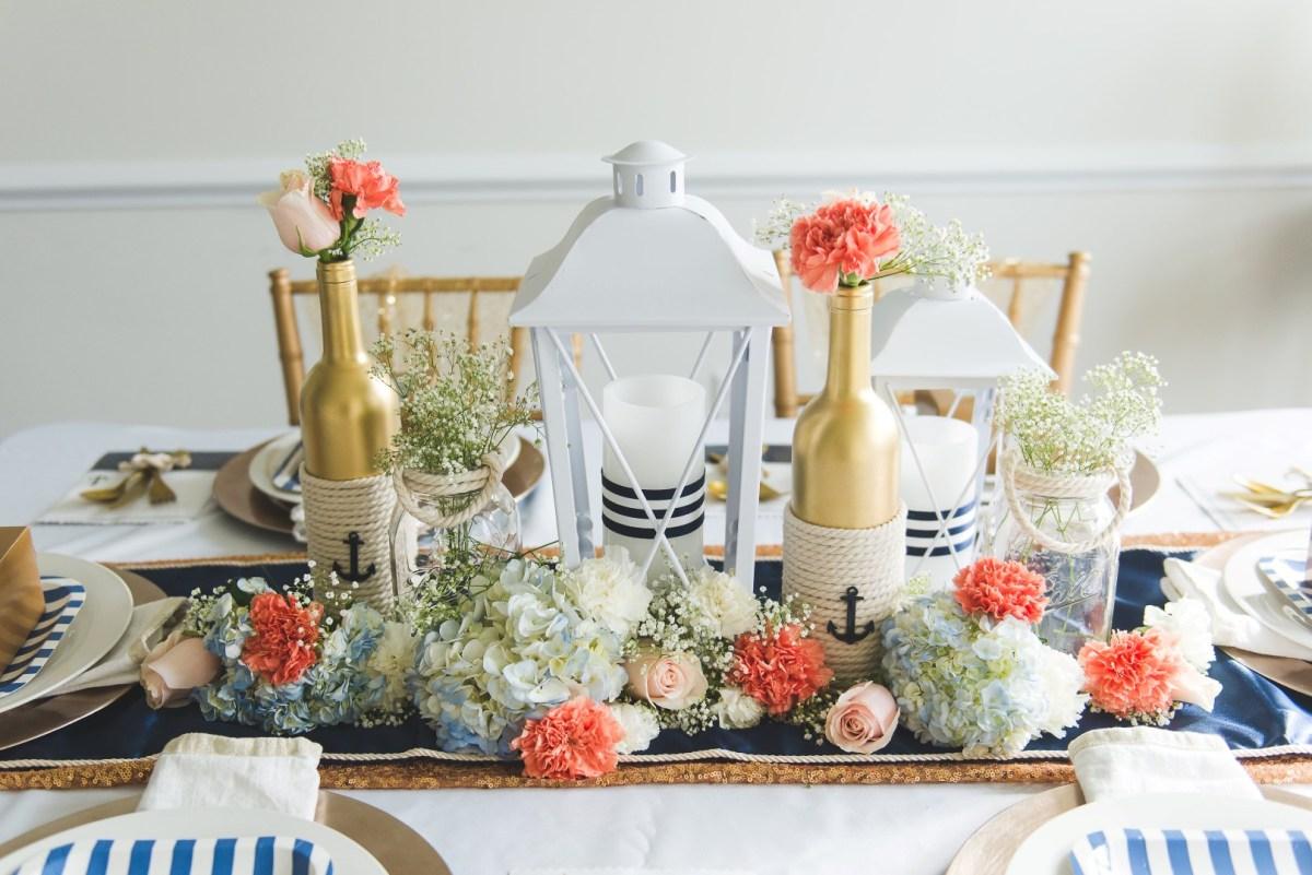 Nautical Wedding Decor Diy Bride Elegant Nautical Wedding Centerpiece Tutorial