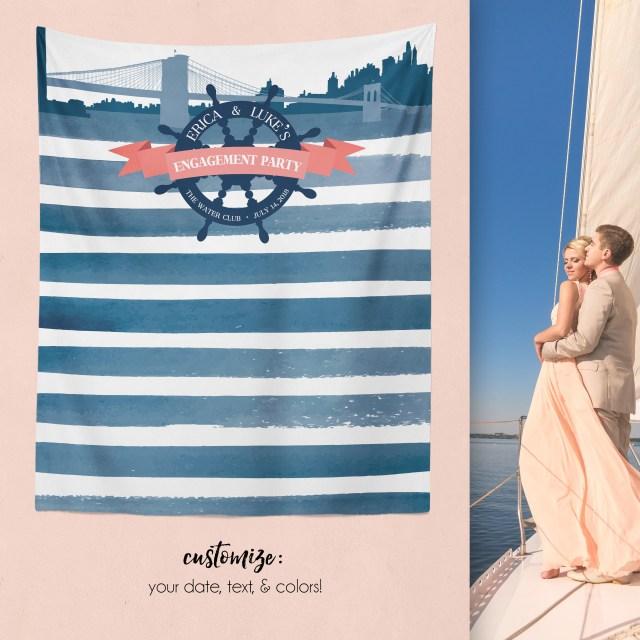 Nautical Wedding Decor Nautical Wedding Backdrop Nautical Wedding Decor Nautical Etsy