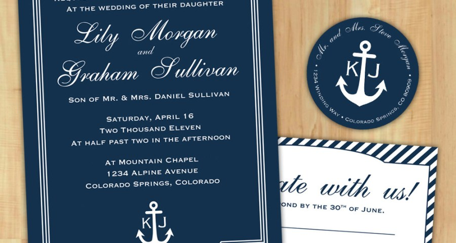 Nautical Wedding Invitation Template Nautical Wedding Invitations Nautical Wedding Invitations