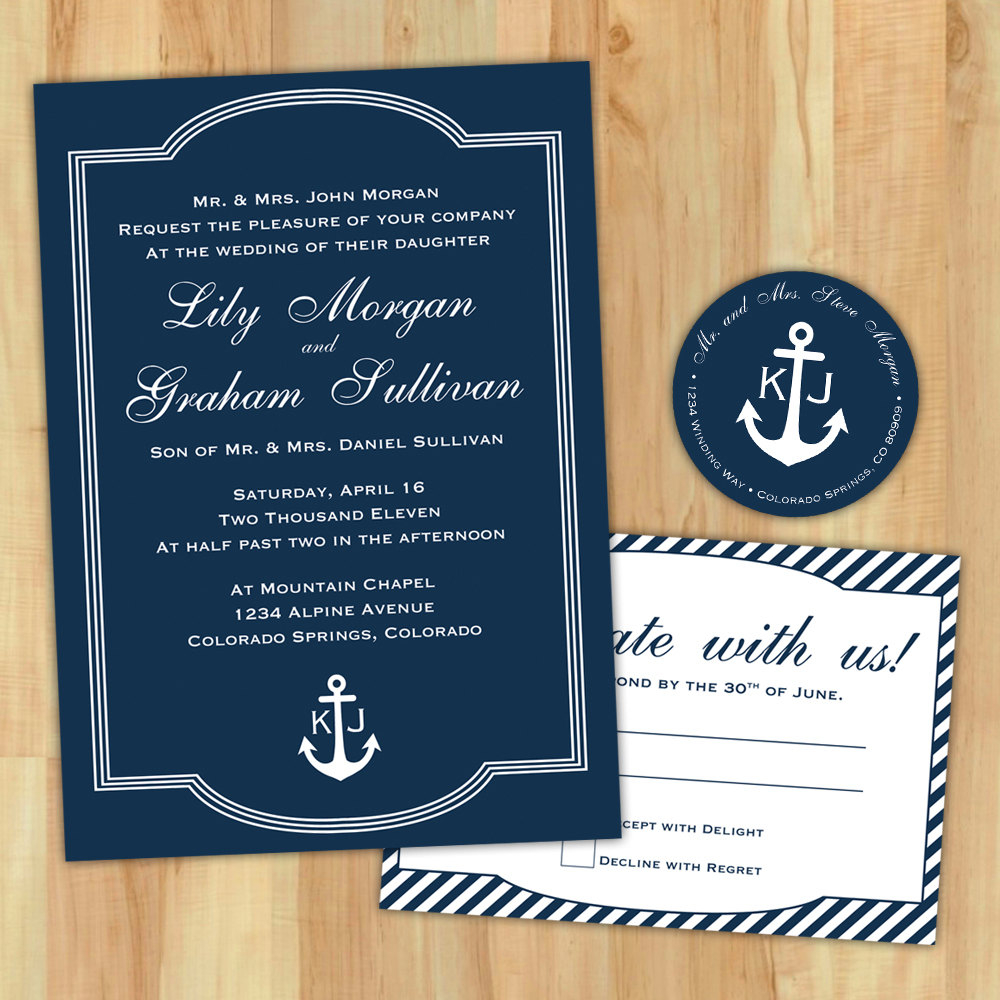 24+ Creative Image of Nautical Wedding Invitation Template